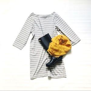 L. L. Bean striped dress 3/4 sleeve